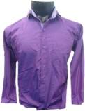Spykey Men's Self Design Formal Purple S...