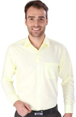 Magson Ace Men's Solid Formal Orange Shirt