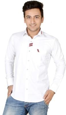 Vape Men's Solid Party White Shirt