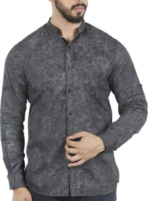 Aady Jones Men,s Printed Formal Black Shirt