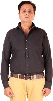 The G Street Men's Solid Casual Grey Shirt