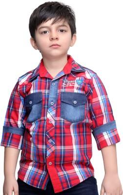 BAD BOY Boy's Checkered Casual Red Shirt