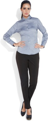 Park Avenue Women,s Printed Formal Grey Shirt