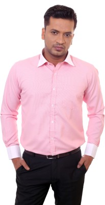 Countryside Men's Checkered Formal Pink Shirt