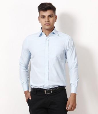 Yuva Men's Solid Formal Light Blue Shirt