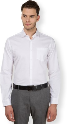 Black Coffee Men's Solid Formal White Shirt