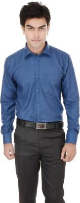 Kalrav Men's Solid Casual, Formal, Party, Wedding Dark Blue Shirt