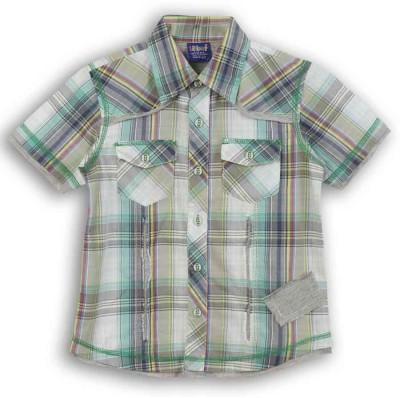 Lilliput Boy,s Checkered Casual Green Shirt