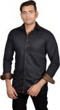 Lomhara Men's Printed Casual Black Shirt