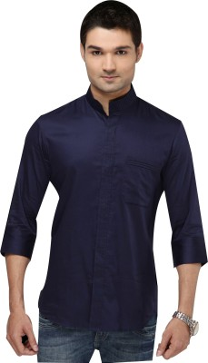 I Know Men's Solid Party Blue Shirt