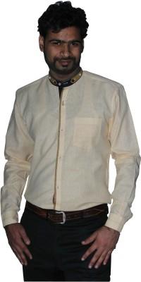 The Mods Men's Solid Casual Beige Shirt