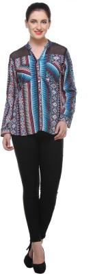 Varanga Women's Printed Casual Multicolor Shirt