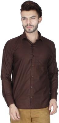 RVC FASHION Men's Solid Casual Brown Shirt