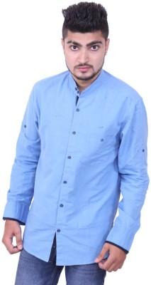 Austrich Men's Solid Casual Blue Shirt