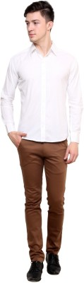 Shreebalajitraders Men's Solid Formal White Shirt