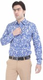 Angels Choice Men's Printed Casual Blue ...