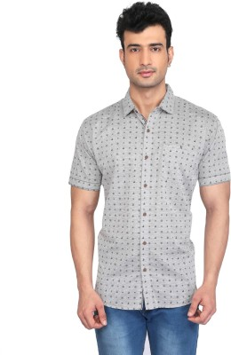 Glabrous Men,s Graphic Print Casual Black Shirt
