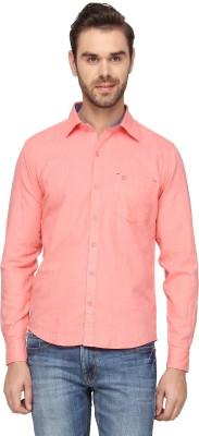 Cross Creek Men's Solid Casual Pink Shirt