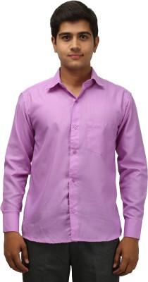 Aaral Men's Solid Casual Purple Shirt