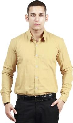 Trendster Men's Solid Formal Beige Shirt