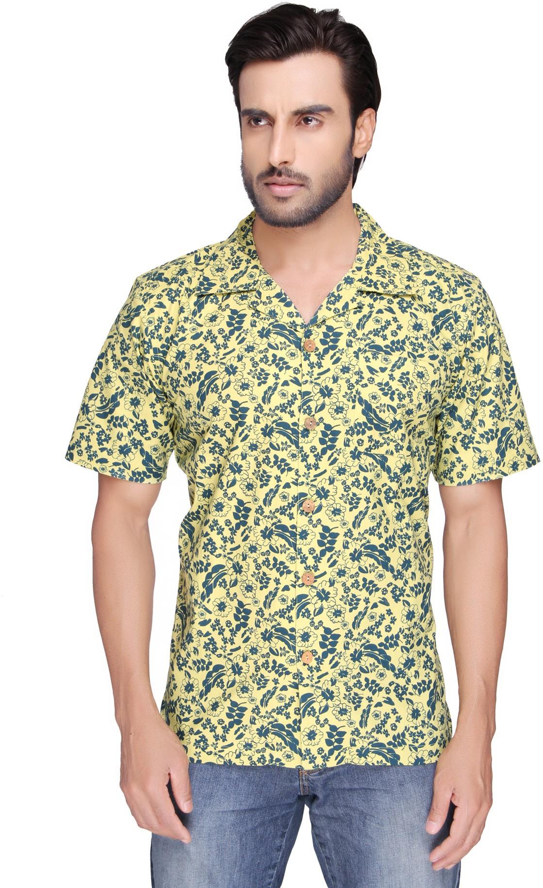 SBA Men's Printed Casual Multicolor Shirt