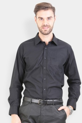 Crocodile Men's Solid Formal Black Shirt