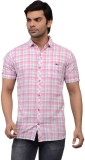 Ranger Men's Checkered Casual Pink Shirt