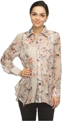 Tara Lifestyle Women's Floral Print Casual Multicolor Shirt