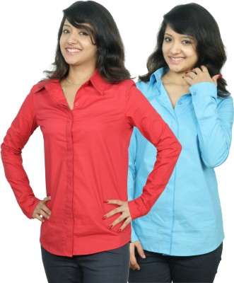 Neburu Women's Solid Casual Shirt