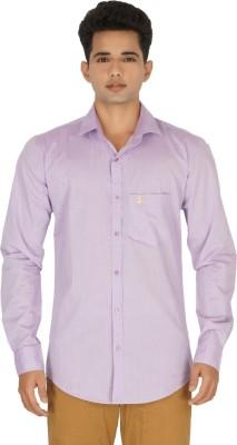 Rug Bee Men's Solid Casual Purple Shirt