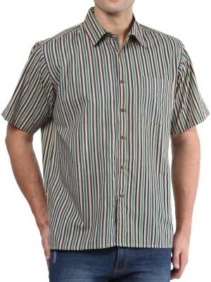 Vivid India Men's Striped Casual Multicolor Shirt