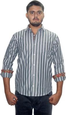 The GreeK Men's Striped Casual Multicolor Shirt