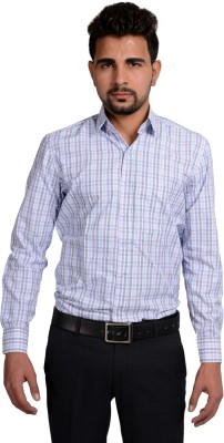 Riwas Collection Men,s Checkered Formal Multicolor, Pink Shirt
