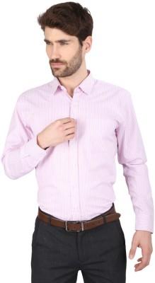 Big Tree Men,s Striped Formal Pink Shirt
