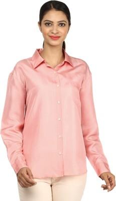 Charisma Women's Solid Formal Pink Shirt