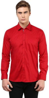 The Vanca Men's Solid Casual Red Shirt