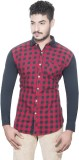 One Sphere Men's Checkered Casual Multic...