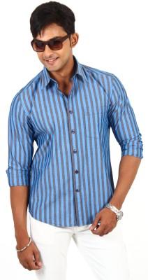 Barrier Reef Men's Checkered Casual Dark Blue, Black Shirt