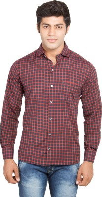 Nauhwar Men's Checkered Casual Red Shirt