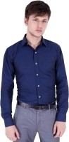 Vaitolua Formal Shirts (Men's) - Vaitolua Men's Solid Formal Dark Blue Shirt