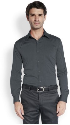 Park Avenue Men,s Solid Formal Black Shirt