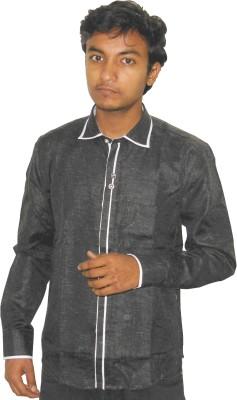 Silvercuffs Men's Self Design Party Shirt