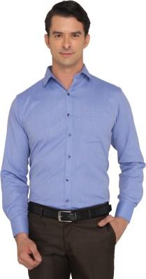 Donear NXG Men's Printed Formal Blue Shirt