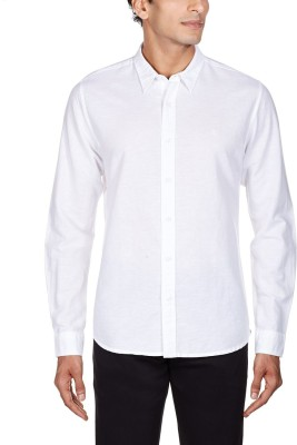 Alian Men,s, Boy's Solid Wedding, Casual, Party, Party Reversible White Shirt