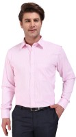 Outdoor Formal Shirts (Men's) - Outdoor Men's Striped Formal Pink Shirt