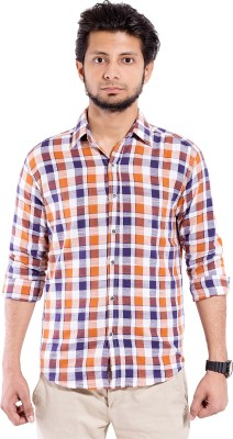 Chaman Handicrafts Men's Checkered Casual Brown Shirt