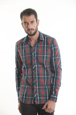 Kart & Kriss Men's Checkered Casual Red, Green Shirt