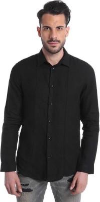 Jack & Jones Men's Solid Casual Black Shirt