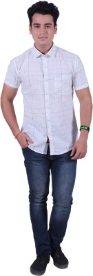 Re Fuel Sport Men's Printed Casual White Shirt