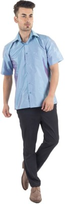 Warrior Men's Self Design Casual Multicolor Shirt